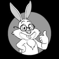 Hare thumb up: