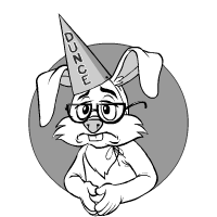 Hare wearing dunce cap: