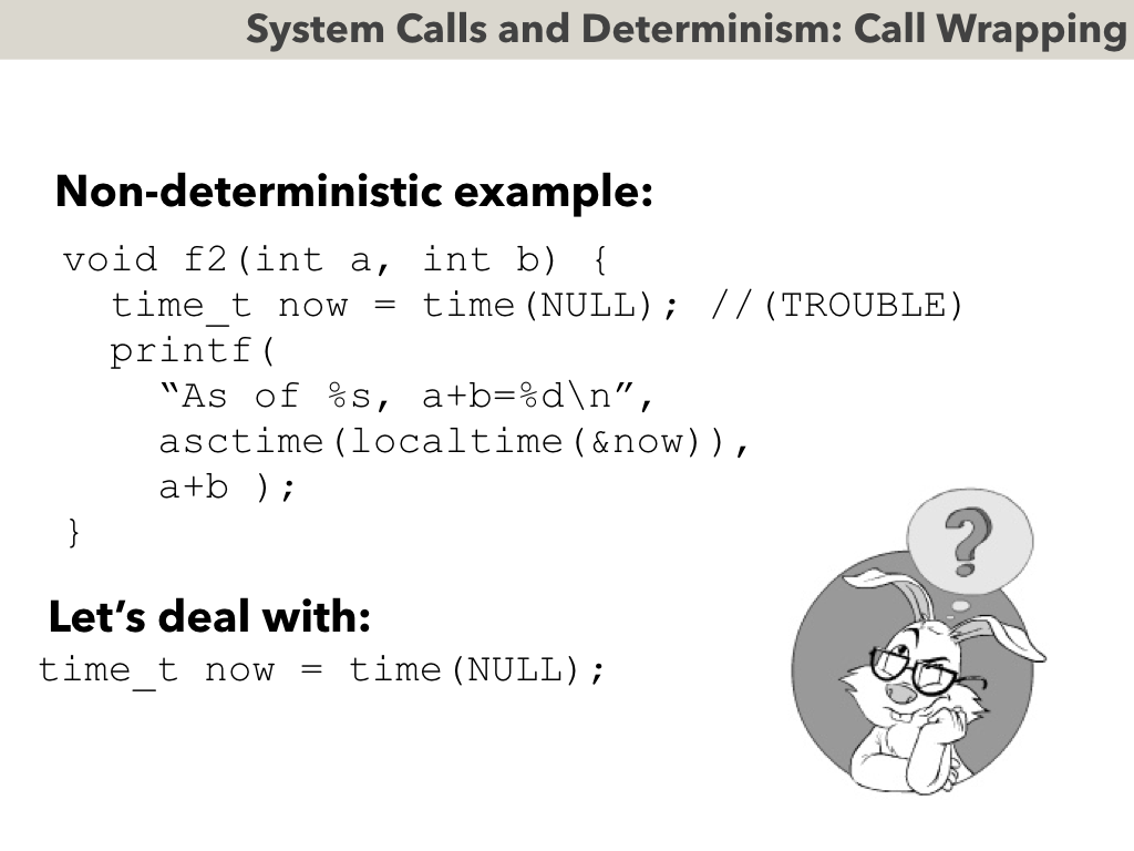 deterministic systems A system in which the output cannot be predicted because there are multiple possible outcomes for each input.