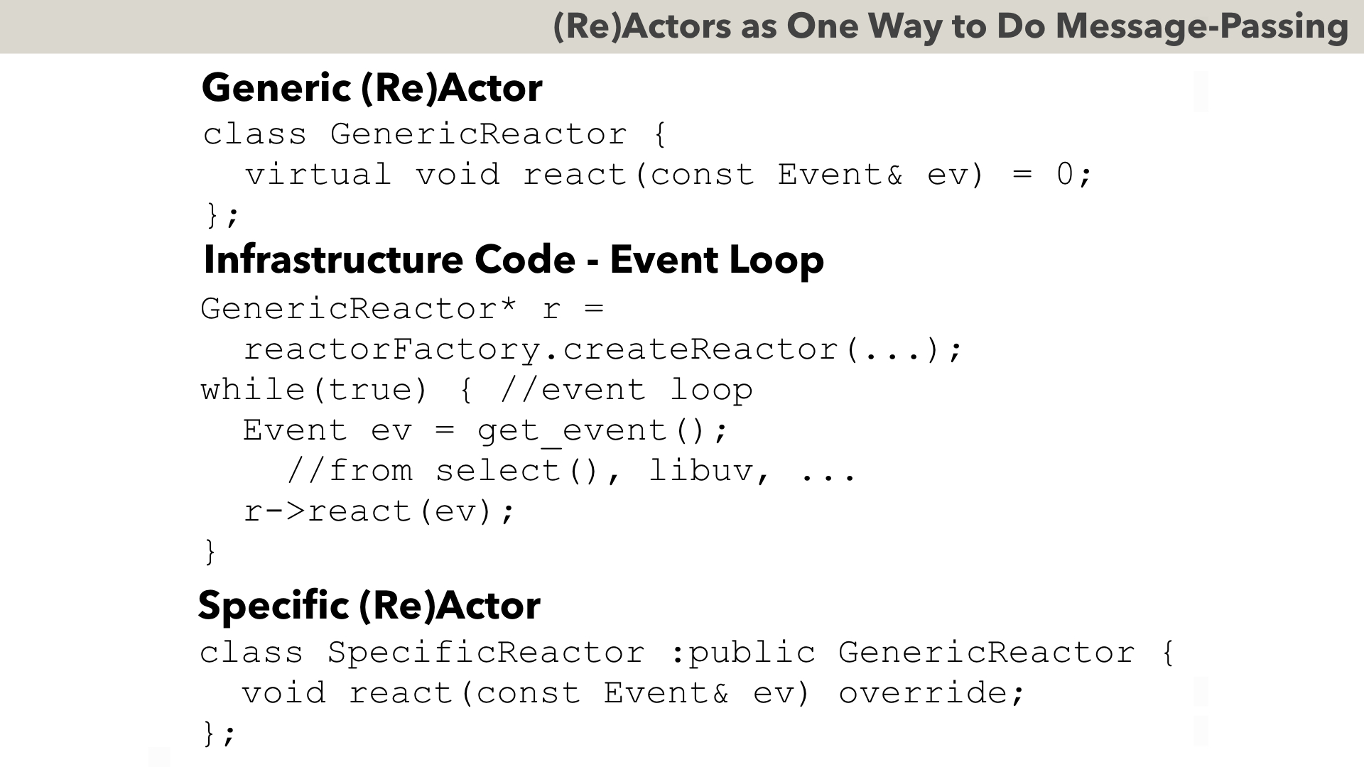 generalising and making exceptions